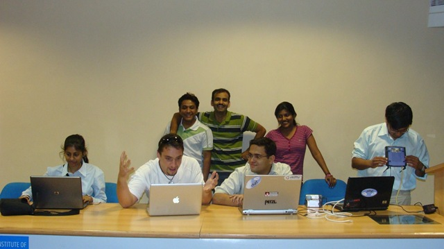 Volunteers Team on 24th evening for Joomla day