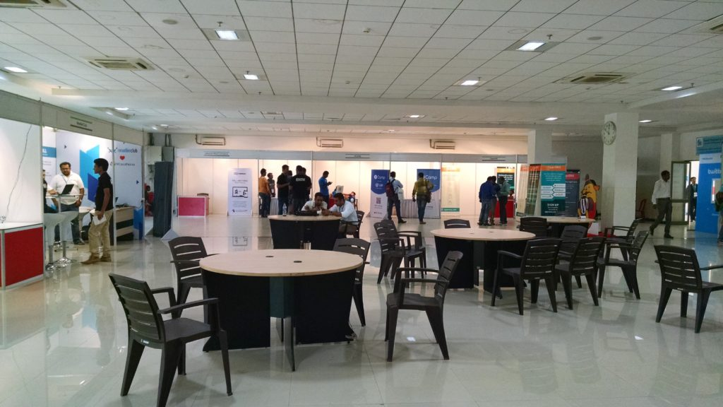 networking space at WordCamp Nashik 2016