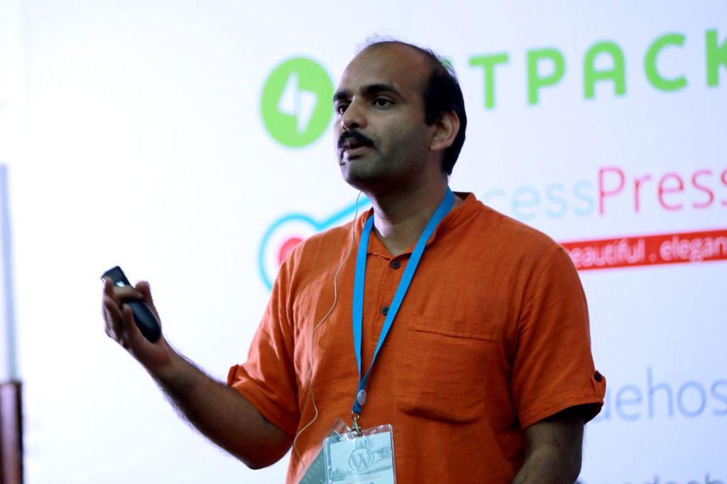 Amit Kumar Singh at WordCamp kathmandu
